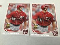 2013 Topps #1 Bryce Harper (All-Star Rookie Cup) Nationals Phillies lot of 2