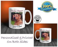 Rhodesian Ridgeback Personalised Ceramic Mug: Perfect Gift. (D397)