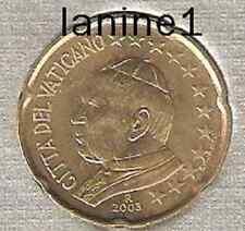 20 CENT DU COFFRET BU VATICAN 2003 (RARE)