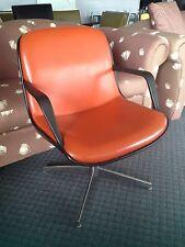 Vintage Retro Steelcase Pollock-design Vinyl Plastic & Steel Chair c1965 VG+
