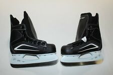 New Ccm Prolite Black White Ice Hockey Skates Youth Size 9J 10.5 Us 26.5 Eur Box
