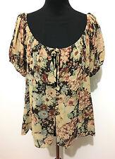 CULT VINTAGE '80 Camicia Donna Flower Blusa Rayon Woman Shirt Sz.M - 44