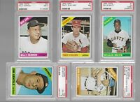 1966 Topps Baseball Complete Set (598)  43 Cards are Graded!