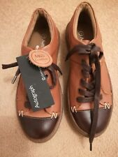 M&S Marks Autograph Brown Mix Leather Plimsoles Shoes Trainers SIze 3