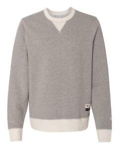 NEW CHAMPION Originals Men's Sueded Fleece Crewneck, Pullover Crew Sweatshirt