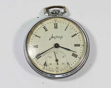 "RARE VINTAGE SOVIET RUSSIAN ""MOLNIJA"" POCKET WATCH 18 JEWELS USSR (p21)"