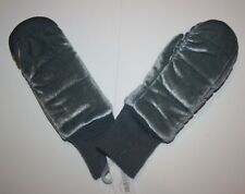 New Gymboree Girls Soft Gray Velvet Mittens size Large 10 12 year