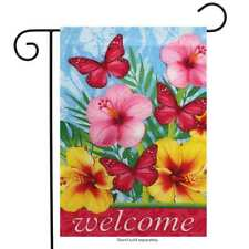 "Floral Welcome Spring Garden Flag 12.5"" x 18"" Briarwood Lane"