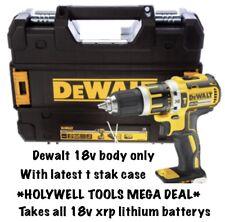 DEWALT 18v CORDLESS BRUSHLESS XR COMBI DRILL DCD795 BARE UNIT