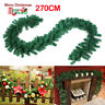 2.7m (9ft) Imperial Pine Pre Lit Christmas Garland Green Fireplace XMAS Decor