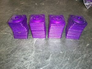 48 Anodized Purple Square Liberty Backing Plates By Stud Boy 7mm