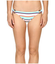 TOMMY BAHAMA RUGBY STRIPE HIPSTER BIKINI SWIM BOTTOMS BLUE MULTI LARGE NEW! $71