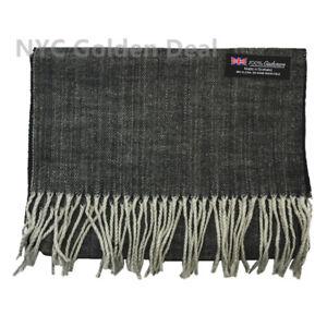 "THICK STRIPE Unisex 100% CASHMERE Warm wrap Scarf Wool SCOTLAND 72""long*12""wide"