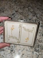 Vintage Stancraft Playing Cards flowers vines Design In Glitter Case