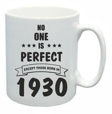 88th Novelty Birthday Gift Present Tea Mug No One Is Perfect 1930 Coffee Cup