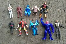 Lot of 10 Action Figures, Vintage 90's DC Comics Marvel X-Men and More