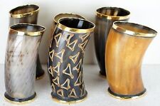 GIFT Set of 6 Viking designer Drinking Horn cups mugs chalice for beer wine mead