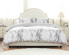 Duvet Cover Set with Zipper Closure-Printed Marble Design-Ultra Soft Comforter