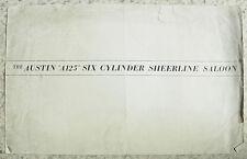 AUSTIN A125 SIX CYLINDER SHEERLINE SALOON Car Sales Brochure c1954 #S267/J