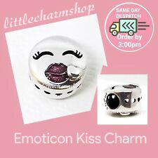 Genuine PANDORA Ale S925 Kiss Charm - 796561EN152