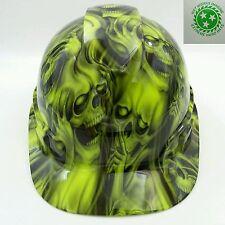 Hard Hat custom hydro dipped , OSHA approved see,hear no evil SKULLS, NEW !!
