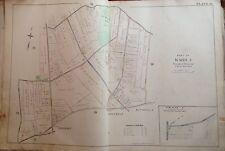 1898 ORIGINAL STATEN ISLAND GREENRIDGE ANNADALE E. ROBINNSON ATLAS MAP 22X32