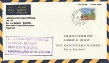 1966 Tanzania cover First Flight by Lufthansa Tanzania(Dar es Salaam)-Germany