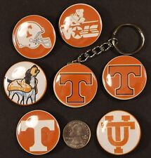 """Tennessee Vols Volunteers Set of 7 -  6 Pinback Buttons and Key Chain 1 1/2"""""""
