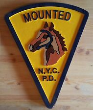 Mounted  New York Police 3d routed wood patch sign plaque Custom
