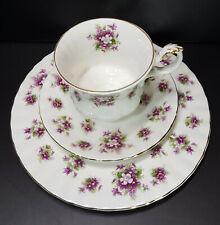 Royal Albert 3tlg. Kaffeegedeck Sweet Violets Bone China England Neuwertig