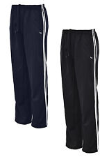 Mens Gents Jogging Track Bottoms Tricot Silky Shiny Sports Comfort Trouser