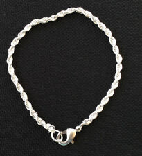 3Chain European Style Charm Bracelet twisted Chains Jewelry Supplies 8.5 Inches