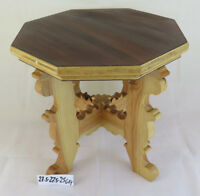 Small Stool Vintage Wooden Three Tier Table IN Miniature Years 60 GF1