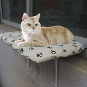 Cat Window Perch, Mounted Cat Bed, Sunbathe Pet Perch, Holds Up to 22lb/10kg