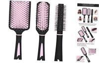 NVTED Hair Brush Set with Detangling Nylon Pins Massage Paddle Brush Cushion Hai