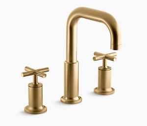 Kohler K-T14428-3-BGD Purist Moderne Brushed Gold Deck Mount Bath Faucet Trim
