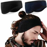 Fleece Ear Headband Winter Warmer Earmuff Women Men Ski Bike Running Sports Head