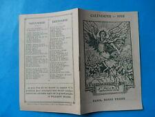 IMAGE PIEUSE CALENDRIER 1918 SAINT MICHEL BONNE PRESSE WW1 WWI   THFR