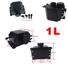 1L Black Car Aluminum Radiator Coolant Overflow Bottle Expansion Reservoir Tank