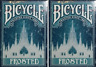 Two Decks of Bicycle Frosted Playing Cards - New Sealed - Limited Edition -USPCC