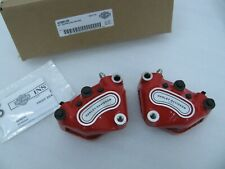 New Harley Davidson Red Front Dual Disc Brake Calipers 41300120 Touring