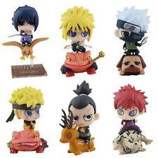 Set 6pcs Anime Naruto Shippuden Petit Chara Land Toy Figure Figurine Doll 2017