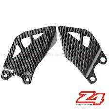 2011-2015 Kawasaki ZX-10R Rearset Foot Peg Mount Heel Guard Plates Carbon Fiber