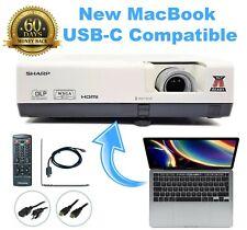 Sharp PG-D3050W DLP Projector Home Theater - New MacBook USB-C Compatible bundle