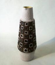 """60s Schlossberg Keramik """"264"""" Vase peacocks eye west german ceramic annees 60"""