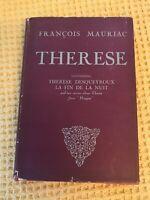 - Therese Desqueyroux - Francois Mauriac 1947 Hardback , Rare Edition