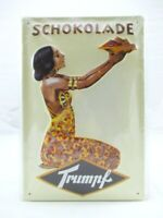 Blechschild Trumpf Schokolade Metall Schild 30cm,Nostalgie Metal Shield ..