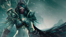Game WOW world of warcraft sylvanas Silk Poster Wallpaper 24 X 13 inch
