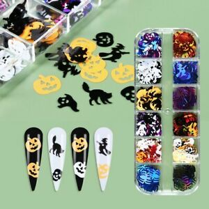 Jewelry 3D Nail Art Decorations Halloween Nail Art Sequins Laser Nail Art Patch