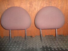 VAUXHALL CORSA C 2001 COMFORT DOOR FRONT PAIR OF HEADRESTS RED AND BLACK PATTERN
